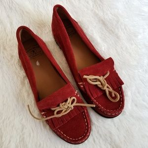 LUCKY BRAND   Red Suede Loafers